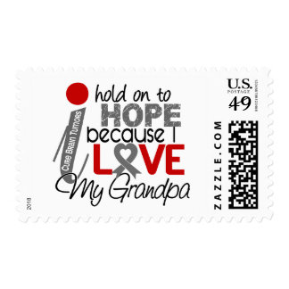 Hope For My Grandpa Brain Tumor Stamp