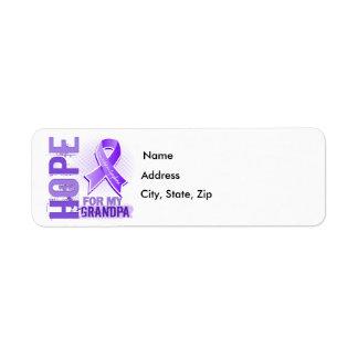 Hope For My Grandpa Hodgkins Lymphoma Label