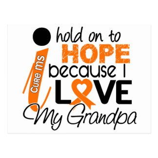 Hope For My Grandpa Multiple Sclerosis MS Postcard