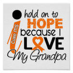Hope For My Grandpa Multiple Sclerosis MS Poster