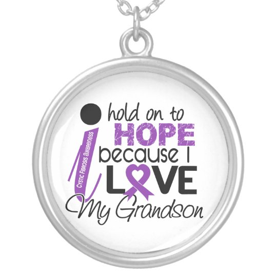 Hope For My Grandson Cystic Fibrosis Silver Plated Necklace