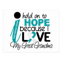 Hope For My Great Grandma Cervical Cancer Postcard