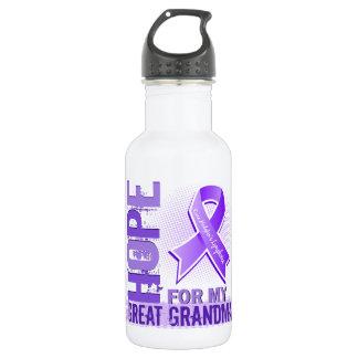 Hope For My Great Grandma Hodgkins Lymphoma Water Bottle