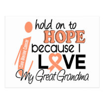 Hope For My Great grandma Uterine Cancer Postcard