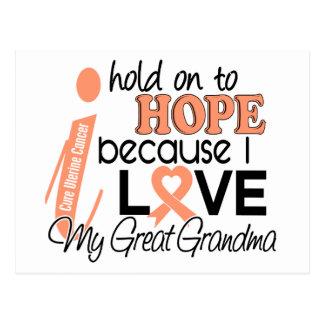 Hope For My Great grandma Uterine Cancer Postcard