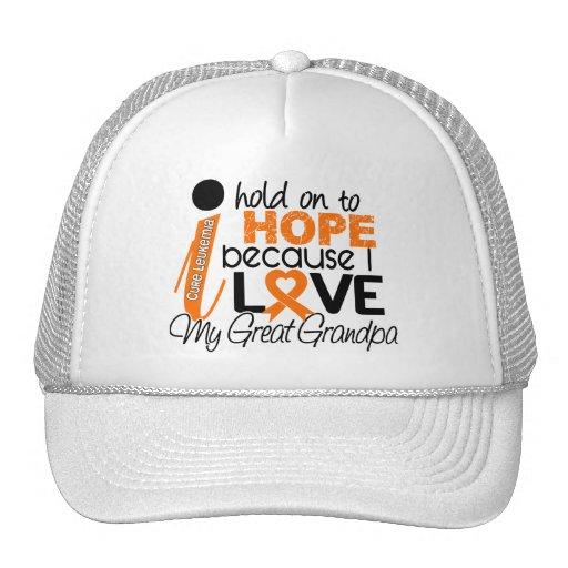Hope For My Great Grandpa Leukemia Trucker Hat
