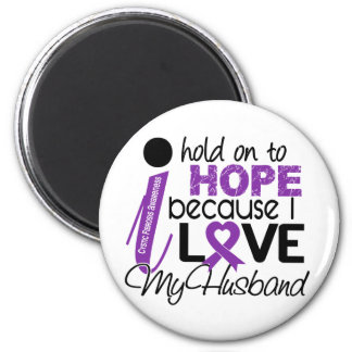 Hope For My Husband Cystic Fibrosis 2 Inch Round Magnet
