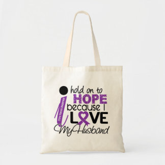 Hope For My Husband Cystic Fibrosis Tote Bags