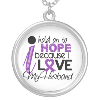 Hope For My Husband Cystic Fibrosis Round Pendant Necklace