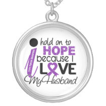 Hope For My Husband Cystic Fibrosis Silver Plated Necklace