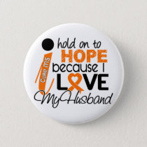 Hope For My Husband Multiple Sclerosis MS Pinback Button