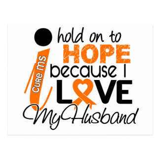 Hope For My Husband Multiple Sclerosis MS Postcard