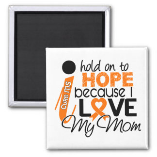 Hope For My Mom Multiple Sclerosis MS 2 Inch Square Magnet