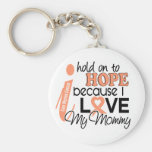 Hope For My Mommy Uterine Cancer Keychain
