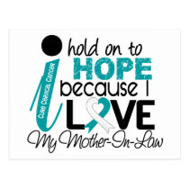 Hope For My Mother-In-Law Cervical Cancer Postcard