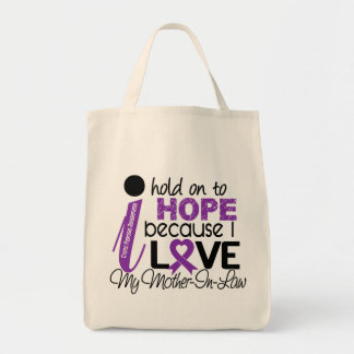 Hope For My Mother-In-Law Cystic Fibrosis Canvas Bags