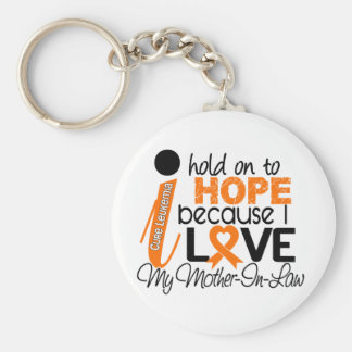 Hope For My Mother-In-Law Leukemia Keychain