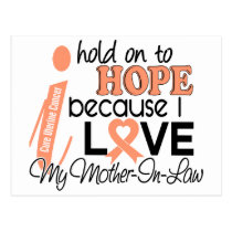 Hope For My Mother-In-Law Uterine Cancer Postcard