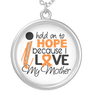 Hope For My Mother Leukemia Round Pendant Necklace