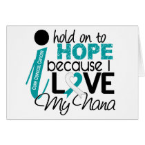 Hope For My Nana Cervical Cancer Card