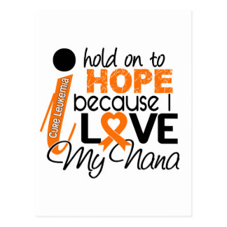 Hope For My Nana Leukemia Postcard