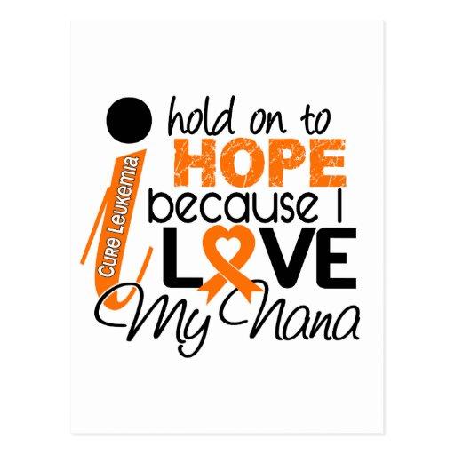 Hope For My Nana Leukemia Post Card