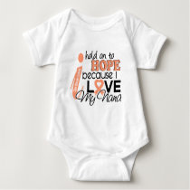 Hope For My Nana Uterine Cancer Baby Bodysuit