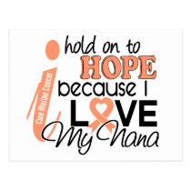 Hope For My Nana Uterine Cancer Postcard