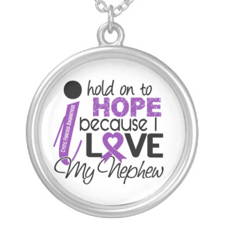 Hope For My Nephew Cystic Fibrosis Round Pendant Necklace