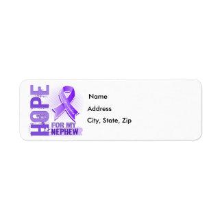 Hope For My Nephew Hodgkins Lymphoma Return Address Label
