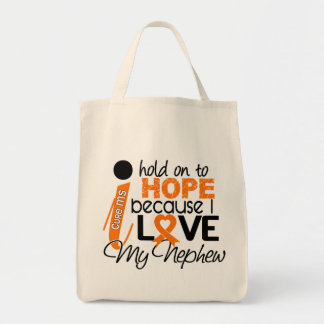 Hope For My Nephew MS Multiple Sclerosis Canvas Bags