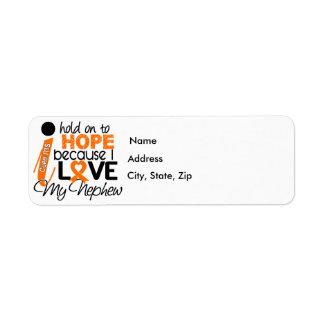 Hope For My Nephew MS Multiple Sclerosis Return Address Label