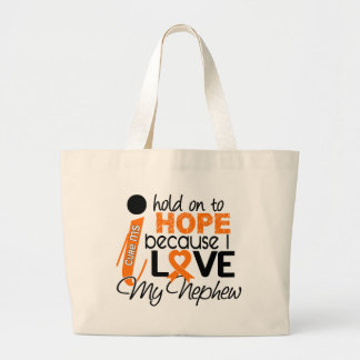 Hope For My Nephew MS Multiple Sclerosis Large Tote Bag