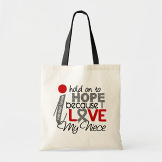 Hope For My Niece Brain Tumor Tote Bag