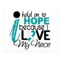 Hope For My Niece Cervical Cancer Postcard