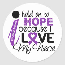 Hope For My Niece Cystic Fibrosis Classic Round Sticker