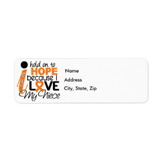 Hope For My Niece Multiple Sclerosis MS Label