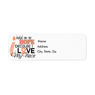 Hope For My Niece Uterine Cancer Label