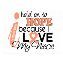 Hope For My Niece Uterine Cancer Postcard