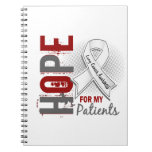 Hope For My Patients Lung Cancer Note Book