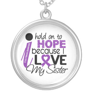 Hope For My Sister Cystic Fibrosis Round Pendant Necklace