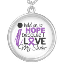 Hope For My Sister Cystic Fibrosis Silver Plated Necklace