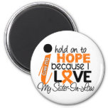 Hope For My Sister-In-Law Multiple Sclerosis MS 2 Inch Round Magnet