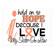 Hope For My Sister-In-Law Uterine Cancer Postcard