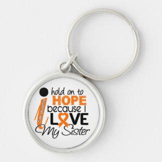 Hope For My Sister Leukemia Keychain