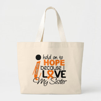 Hope For My Sister Multiple Sclerosis MS Canvas Bags