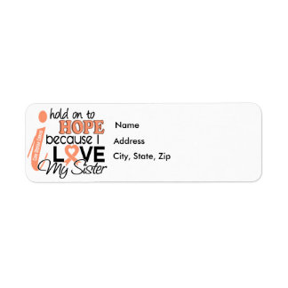 Hope For My Sister Uterine Cancer Label
