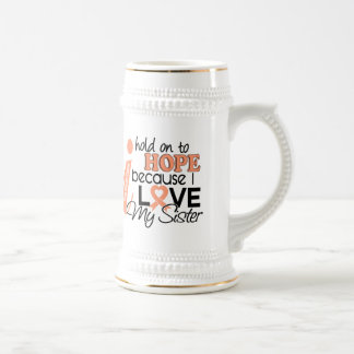 Hope For My Sister Uterine Cancer 18 Oz Beer Stein