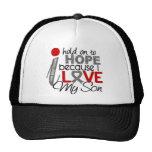 Hope For My Son Brain Tumor Trucker Hats