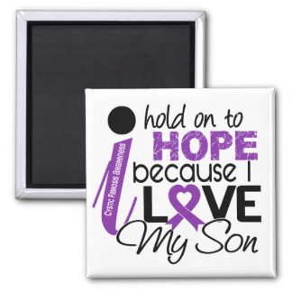 Hope For My Son Cystic Fibrosis 2 Inch Square Magnet